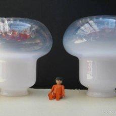 Vintage: 2 TULIPA CRISTAL MURANO MAZZEGA PARA LAMPARAS VINTAGE REPUESTOS. Lote 57043206