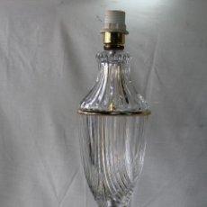 Vintage: PIE DE LAMPARA EN CRISTAL Y METAL. Lote 57294430