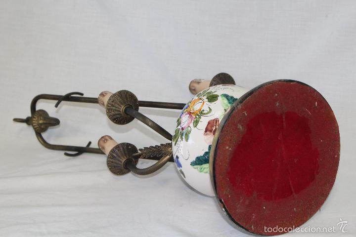 Vintage: lampara sobremesa en porcelana y metal - Foto 7 - 57420242