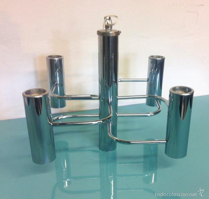 Vintage: Lámpara Vintage Diseño de Gaetano Sciolari - Foto 3 - 57528689