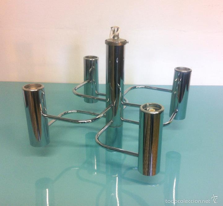 Vintage: Lámpara Vintage Diseño de Gaetano Sciolari - Foto 4 - 57528689