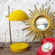 Vintage: LAMPARA DISEÑO VINTAGE ORIGINAL DECORACION RETRO POP AMARILLA METALARTE ANDRE RICARD ? . Lote 57613568