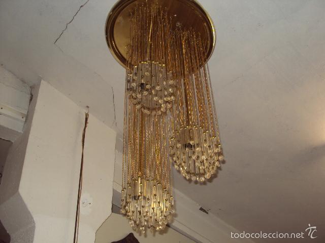Vintage: Lámpara años 70 cristal svaroski - Foto 2 - 57742230