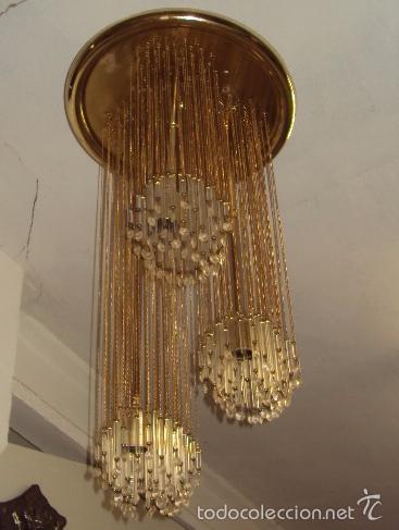 Vintage: Lámpara años 70 cristal svaroski - Foto 3 - 57742230