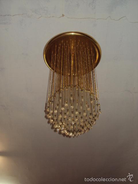 Vintage: Lámpara años 70 cristal svaroski - Foto 2 - 57742255