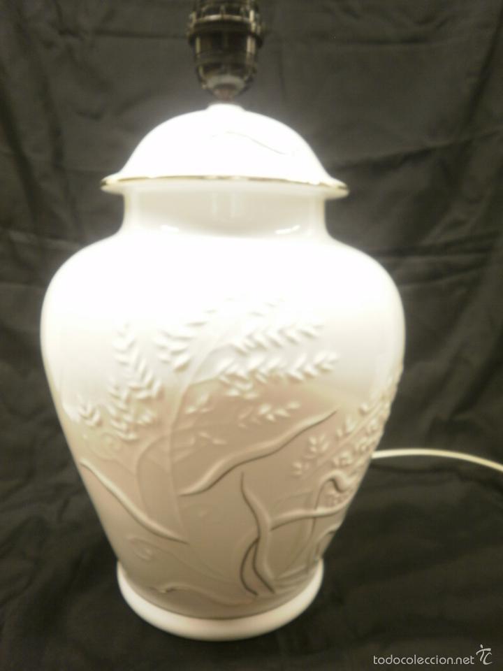 LAMPARA TIBOR DE PORCELANA (Vintage - Lámparas, Apliques, Candelabros y Faroles)