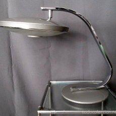 Vintage: LAMPARA FASE 520 C GRIS METALIZADO CON DIFUSOR. Lote 57774054