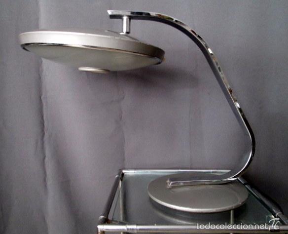 Vintage: LAMPARA FASE 520 C GRIS METALIZADO CON DIFUSOR - Foto 2 - 57774054