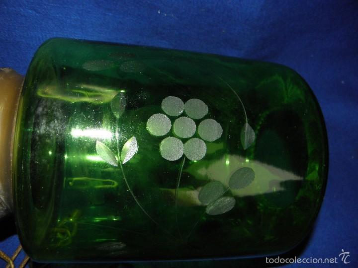 Vintage: LAMPARA DE TECHO CRISTAL VERDE - Foto 9 - 57892584