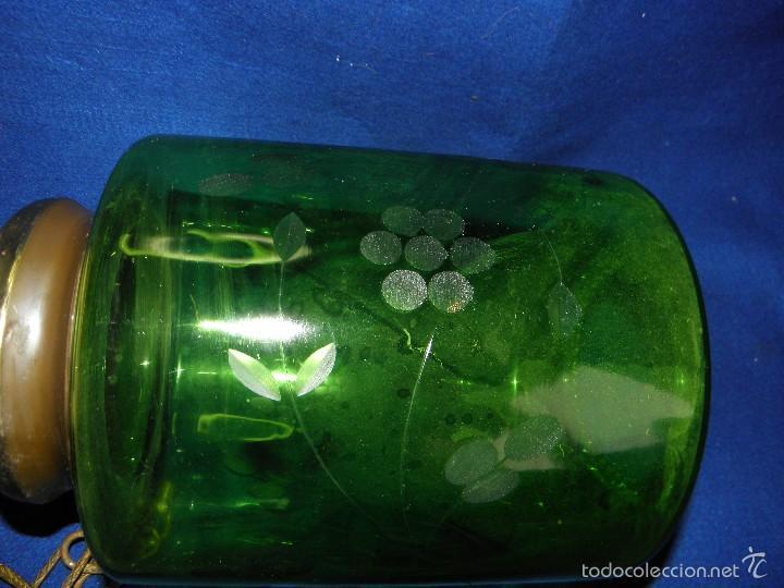 Vintage: LAMPARA DE TECHO CRISTAL VERDE - Foto 10 - 57892584