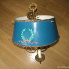 Vintage: LAMPARA DE TECHO BRONCE-LATON CERAMICA. Lote 129700835