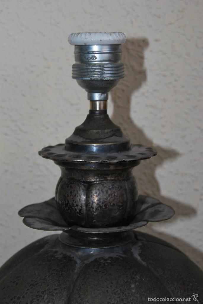 Vintage: LÁMPARA DE SOBREMESA - METAL - MOTIVOS VEGETALES - AÑOS 50-60 - Foto 2 - 57915642