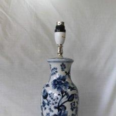 Vintage: PIE DE LAMPARA EN CERAMICA Y MADERA. Lote 57945430
