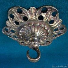Vintage: ANTIGUO FLORON DE BRONCE PARA COLGAR LAMPARA TECHO. Lote 57974160