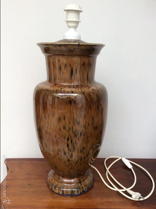 Vintage: Lámpara de porcelana - Foto 2 - 58108061