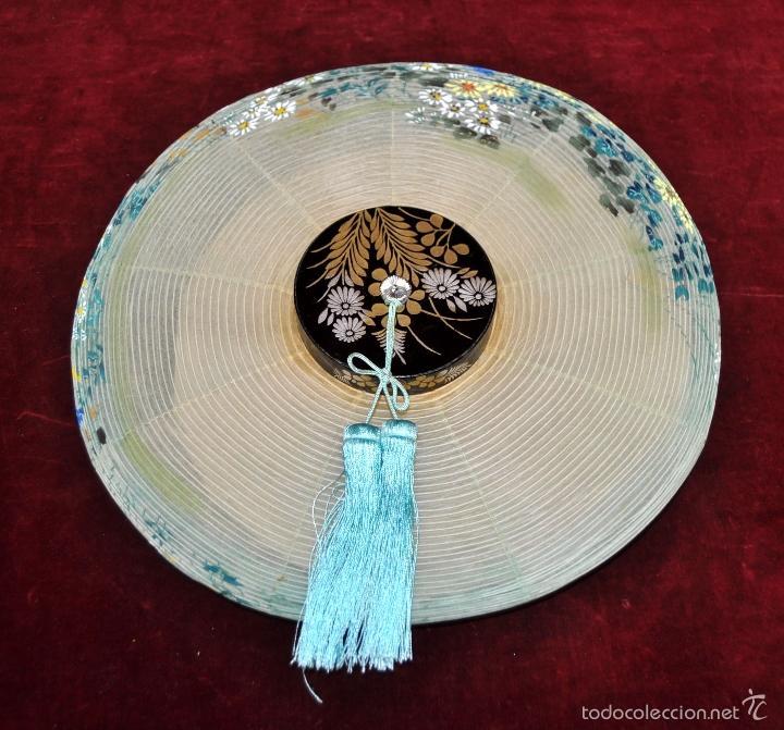 Vintage: BONITA LAMPARA DE PAPEL JAPONESA PINTADA A MANO - Foto 2 - 58275552