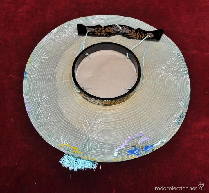 Vintage: BONITA LAMPARA DE PAPEL JAPONESA PINTADA A MANO - Foto 5 - 58275552