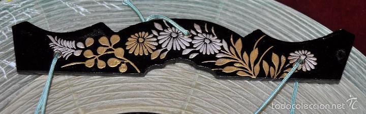 Vintage: BONITA LAMPARA DE PAPEL JAPONESA PINTADA A MANO - Foto 6 - 58275552
