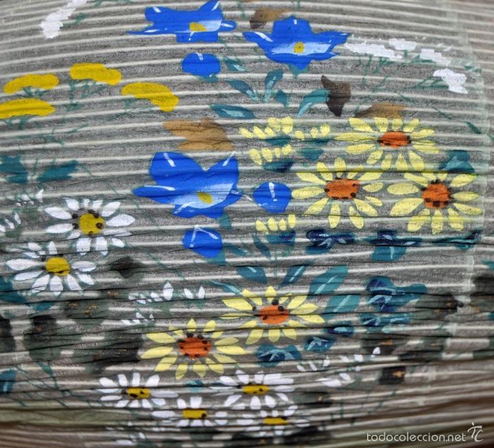 Vintage: BONITA LAMPARA DE PAPEL JAPONESA PINTADA A MANO - Foto 9 - 58275552