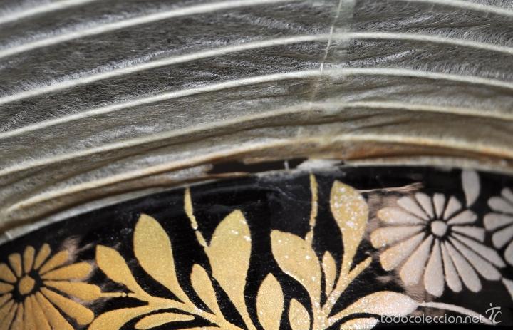 Vintage: BONITA LAMPARA DE PAPEL JAPONESA PINTADA A MANO - Foto 10 - 58275552