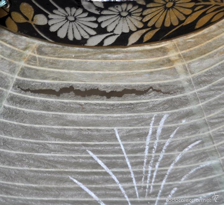 Vintage: BONITA LAMPARA DE PAPEL JAPONESA PINTADA A MANO - Foto 11 - 58275552