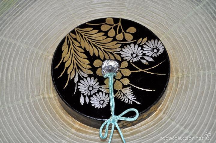 Vintage: BONITA LAMPARA DE PAPEL JAPONESA PINTADA A MANO - Foto 12 - 58275552