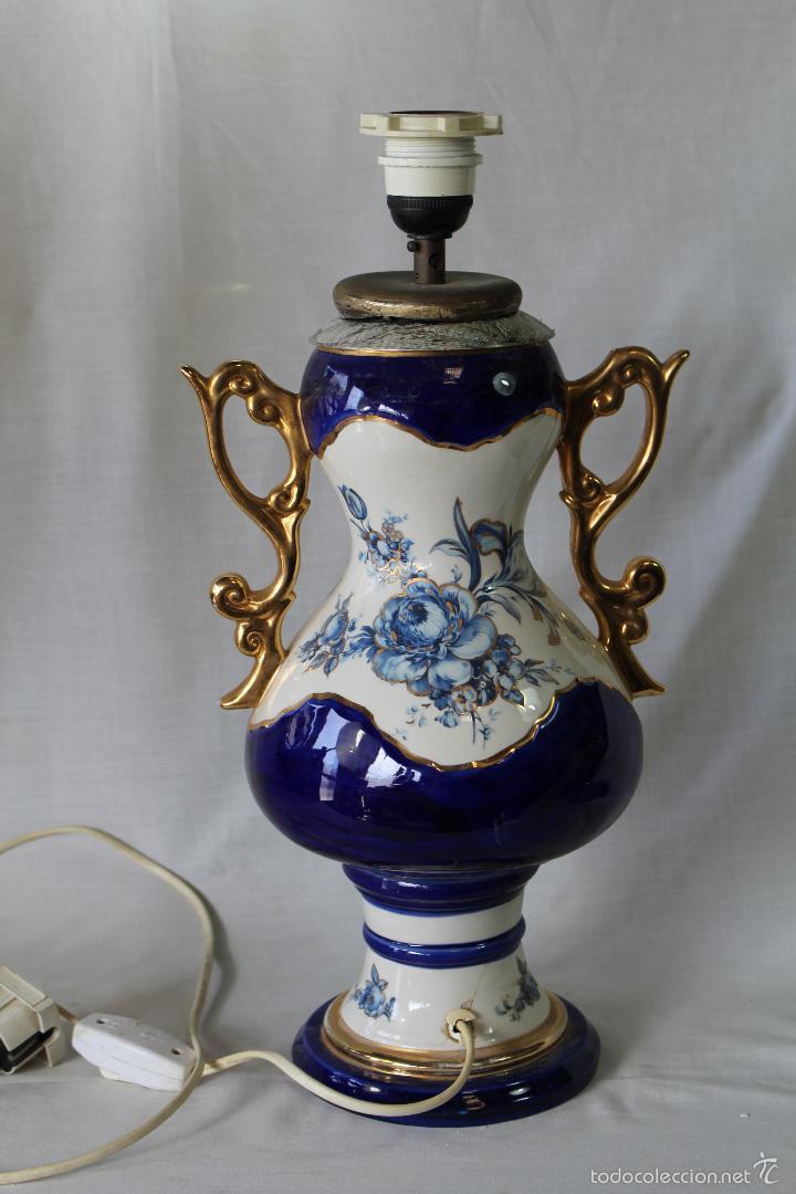Vintage: pie de lampara en ceramica - Foto 3 - 58304371