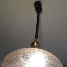 Vintage: LAMPARA VINTAGE. CRISTAL DECORADO. CABLE EXTENSIBLE. FUNCIONANDO.. Lote 58381304
