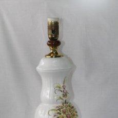 Vintage: PIE DE LAMPARA EN PORCELANA DE MANISES. Lote 58505848