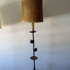 Vintage: LAMPARA DE PIE HIERRO COMBINAR ESPEJO TIPO SOL. Lote 58530466