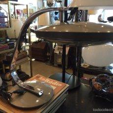 Vintage: VINTAGE LAMPARA DE MESA FASE MODELO 520C , AÑOS 70 COLOR GRIS. Lote 58801396