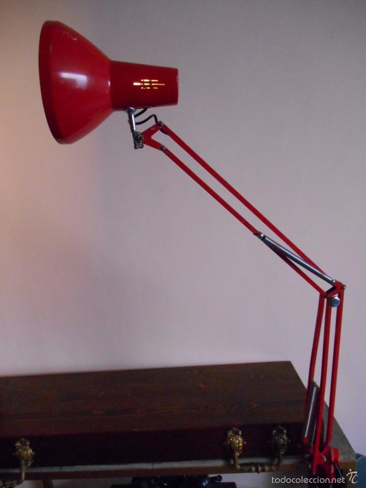 Vintage: ANTIGUA LAMPARA EXTENSIBLE METALICA PORTATIL - AÑOS 60 - - Foto 7 - 58941410