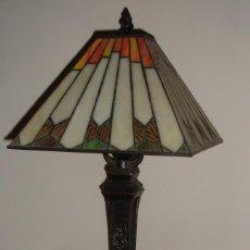 Vintage: PRECIOSA LAMPARA DE SOBREMESA ESTILO TIFFANY, ART-DECÓ. Lote 59510287