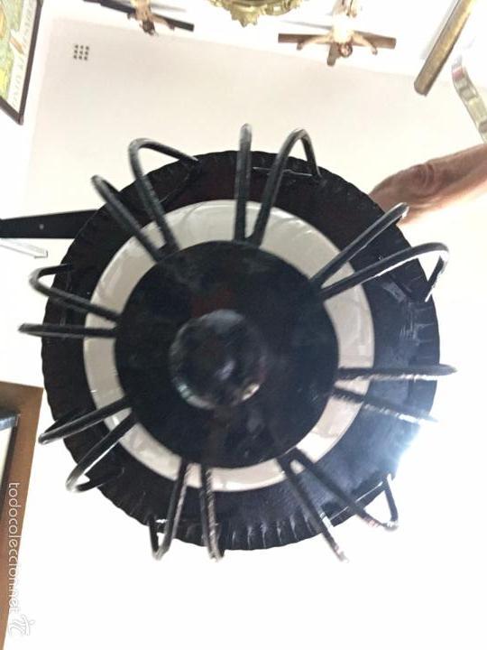 Vintage: LAMPARA DE METAL VINTAGE CON TULIPA DE OPALINA - MEDIDA LARGO 65 CM - Foto 7 - 140964660