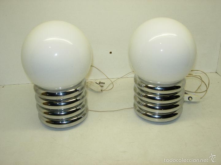 pareja de lmparas para mesita de noche con forma de bombillas us retro vintage
