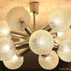 Vintage: LAMPARA TECHO AÑOS 70 SPUTNIK 10 TULIPAS . Lote 60146111