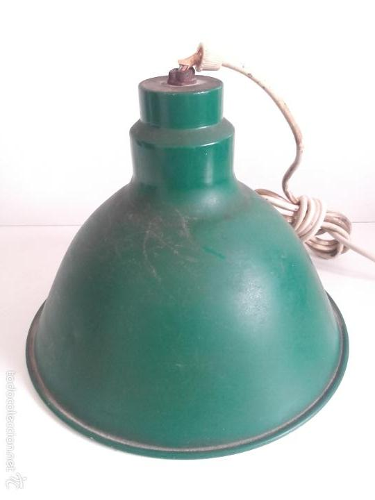 Lámpara Lámpara Verde Metal Industrial Metal Lámpara Techo Verde Industrial Techo eEYD9IH2bW