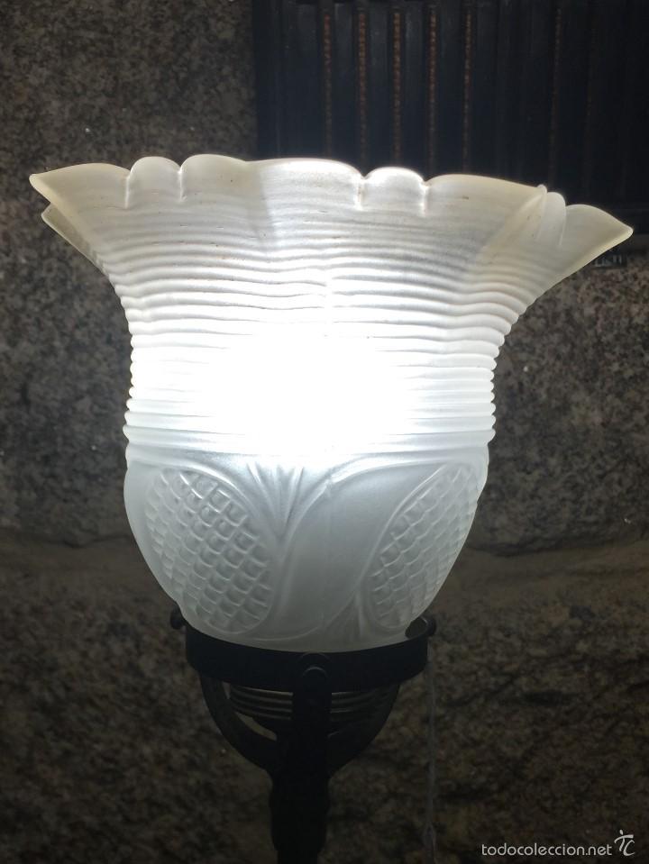 Vintage: Lámpara sobremesa tulipa hacia arriba - Foto 3 - 61147855