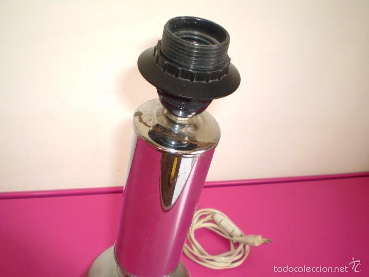 Vintage: Lampara de sobremesa cromada sin tulipa. - Foto 4 - 61288679