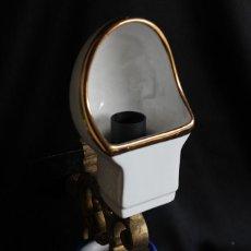 Vintage: ORIGINAL LAMPARA UGT METAL MADRID DECORACIÓN INDUSTRIAL LÁMPARA MINERA PORCELANA HIERRO BRONCE. Lote 62888168