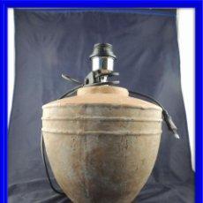 Vintage: LAMPARA PANTALLA DE TERRACOTA MUY DECORATIVA. Lote 63657491