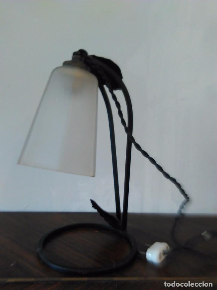 LAMPARA DE TULIPA SOBREMESA (Vintage - Lámparas, Apliques, Candelabros y Faroles)