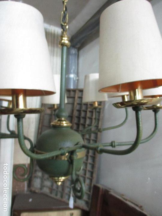 Vintage: Lámpara de Techo - Estilo Holandes - 9 Luces - Bronce Pavonado - para Comedor, salón, etc - Vintage - Foto 11 - 64037355