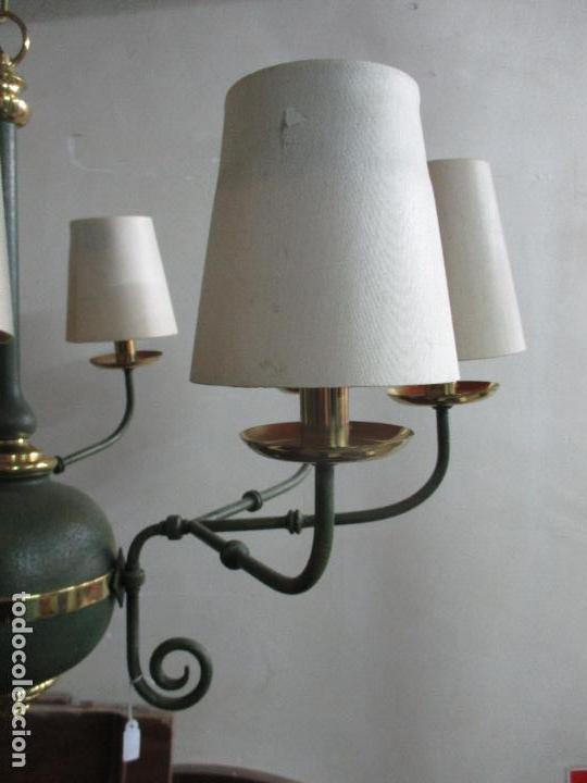 Vintage: Lámpara de Techo - Estilo Holandes - 9 Luces - Bronce Pavonado - para Comedor, salón, etc - Vintage - Foto 15 - 64037355