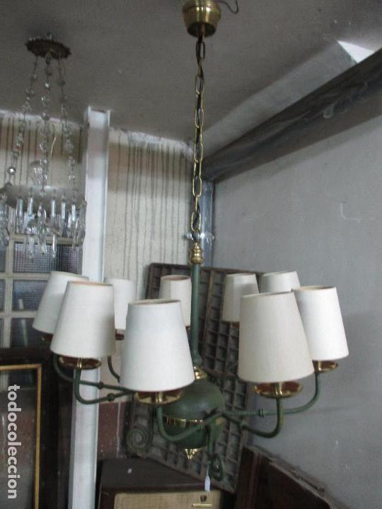 Vintage: Lámpara de Techo - Estilo Holandes - 9 Luces - Bronce Pavonado - para Comedor, salón, etc - Vintage - Foto 18 - 64037355