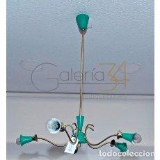 Vintage: LÁMPARA DE TECHO, 5 BRAZOS. Lote 64294271