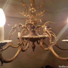 Vintage: LAMPARA BRONCE. Lote 64326294