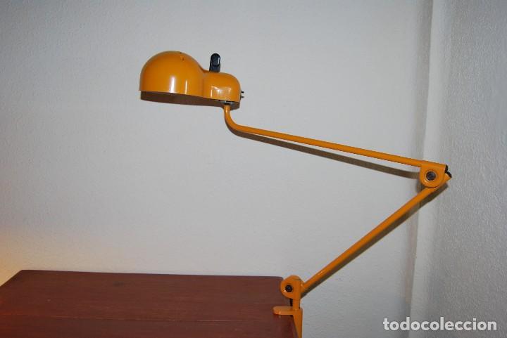 Vintage: LÁMPARA ARTICULADA DE TRAMO - JOE COLOMBO - MODELO TOPO - DISEÑO INDUSTRIAL - FOCO - FLEXO - AÑOS 70 - Foto 13 - 65018547