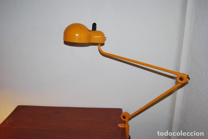 Vintage: LÁMPARA ARTICULADA DE TRAMO - JOE COLOMBO - MODELO TOPO - DISEÑO INDUSTRIAL - FOCO - FLEXO - AÑOS 70 - Foto 14 - 65018547