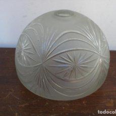 Vintage: TULIPA DE CRISTAL GRABADO AL ACIDO. Lote 65834386